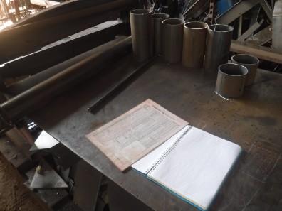 木質バイオマス、ガス化装置制作開始