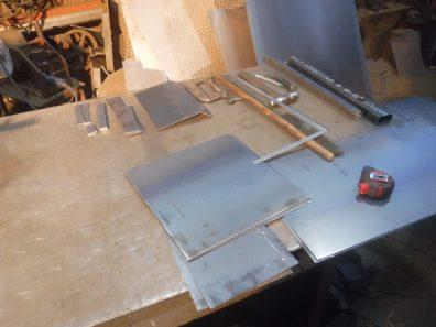 引き続き新型オーブン付き薪ストーブ制作中